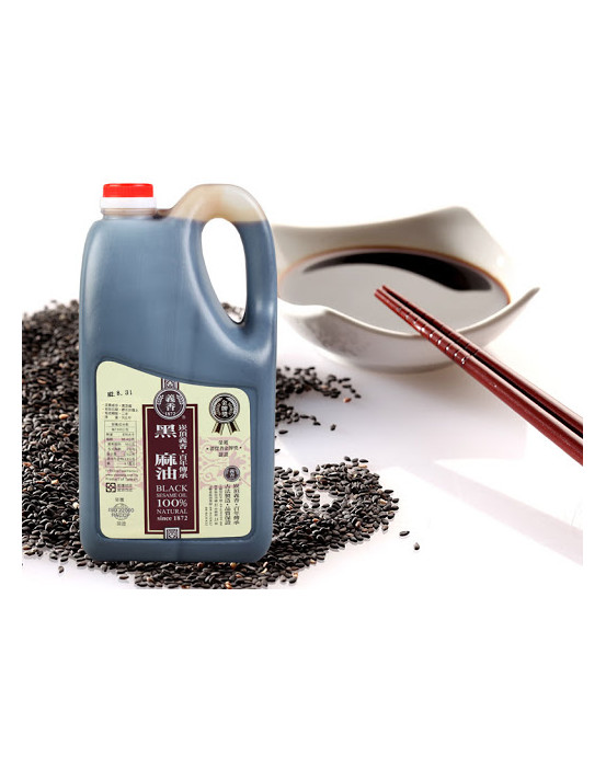 ACEITE DE SESAMO NEGRO 3KG - 義香調味黑麻油3kg