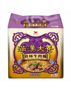 FIDEO INSTANT - 統一滿漢大餐珍味牛肉麵3包入