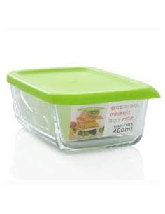 - YOUR STOCK角型玻璃保存盒/400ml/綠色